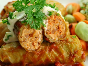 German style stuffed cabbage leaves