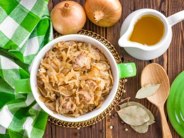 Cabbage casserole with greens