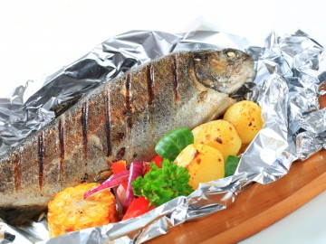 Baked in foil trout