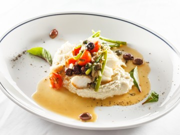 Cod in mustard sauce with capers