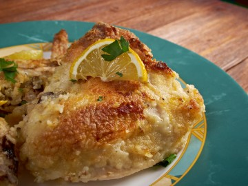 Greek style chicken with lemons