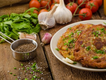 Potato pancakes baked in the oven